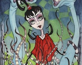 Lydia Deetz - Strange and Unusual - Saturday Morning Cartoons Art Show - Print