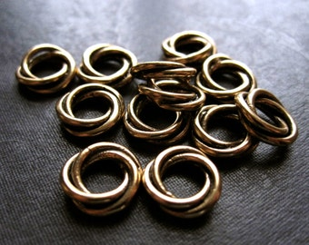 Bronze Twisted Rings - 10mm - 12 - oxidized