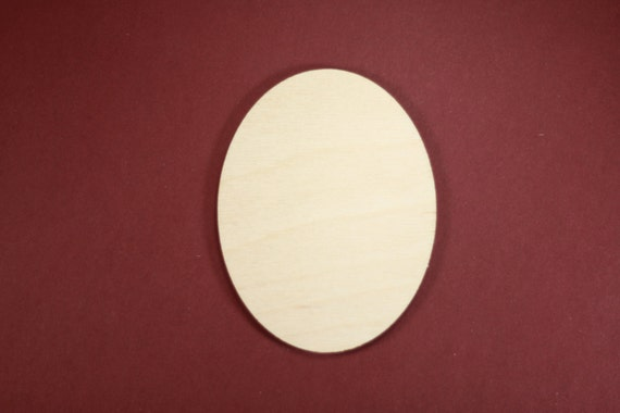 Oval Shape Unfinished Wood Laser Cut Shapes Crafts Variety of