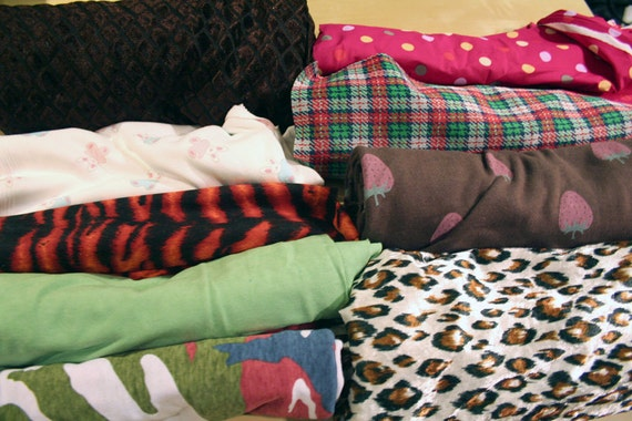 stretch fabric lot - jersey knit spandex velour diy sewing