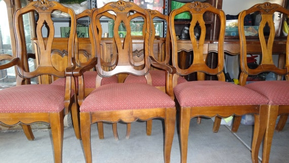 Superb Items Similar To Vintage Ethan Allen French Country Dining Table And 6  Chairs On Etsy