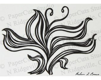 Lily ACEO Papercutting, Handcut Original