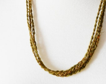 Stranded Earthy Headwrap / Headband - Forest Headrwap No. 3 - Earthy Olive Drab - Women's Hair Accessories