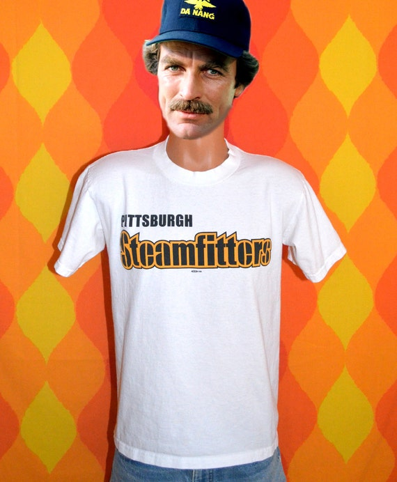 80s vintage t shirt pittsburgh steamfitters union by for Same day t shirt printing las vegas