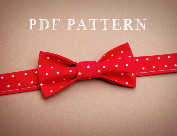 and Toddler Bow Tie PDF Sewing Pattern and Instructions