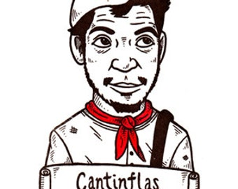 Cantinflas Limited Edition Gocco Screenprint
