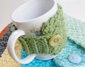 Set of 2 - Coffee Cozy - Cup Cozy - Crochet Coffee Cozy - Coffee Cover - Coffee Warmer - Coffee Sleeve - Mug Cozy