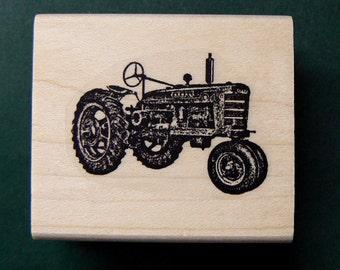 Farm tractor rubber stamp WM P14