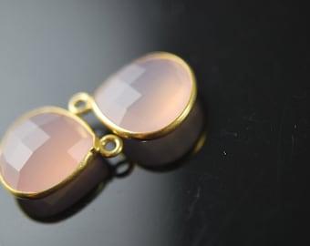 Matching rose quartz heart pendants  2 pieces 18.00