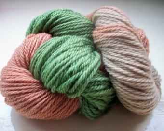 Dip dyed yarn wool muted man colours earth tones green brown 50g by SpinningStreak