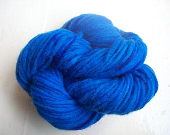 Hand painted virgin wool yarn 50g blue