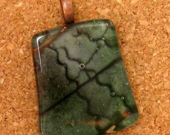 Fused Glass Pendant Glass Pendant Fused Glass Jewelry Glass Jewelry Organic Jewelry