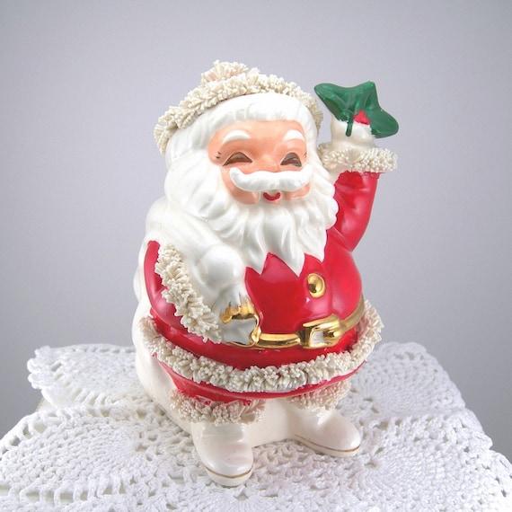 Spaghetti santa bank made in japan vintage figurine holiday