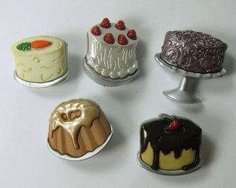 Assorted Dessert Cake Novelty Buttons