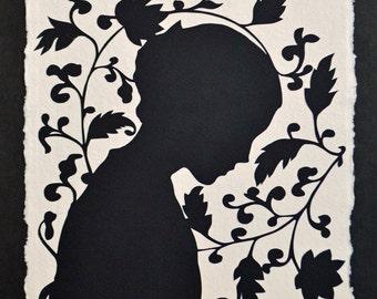 Sale 20% Off // JANE EYRE Papercut - Hand-Cut Silhouette // Coupon Code SALE20
