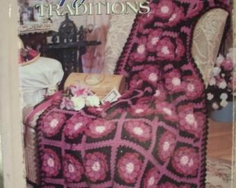 Afghan Traditions, Patterns,Hardback, Book, Supplies,Crochet,Needlecraft Shop