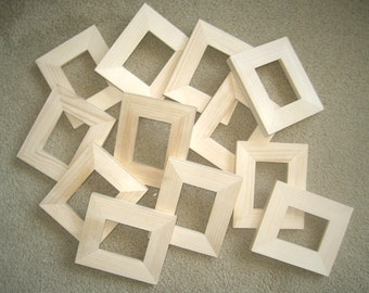 12 aceo wallet size picture frames unfinished in 25 x 35 size