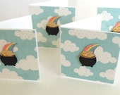 Teeny Tiny Pot Of Gold Mini Cards - Set of 4 Note Cards