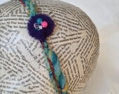 Handspun Art Yarn Headband