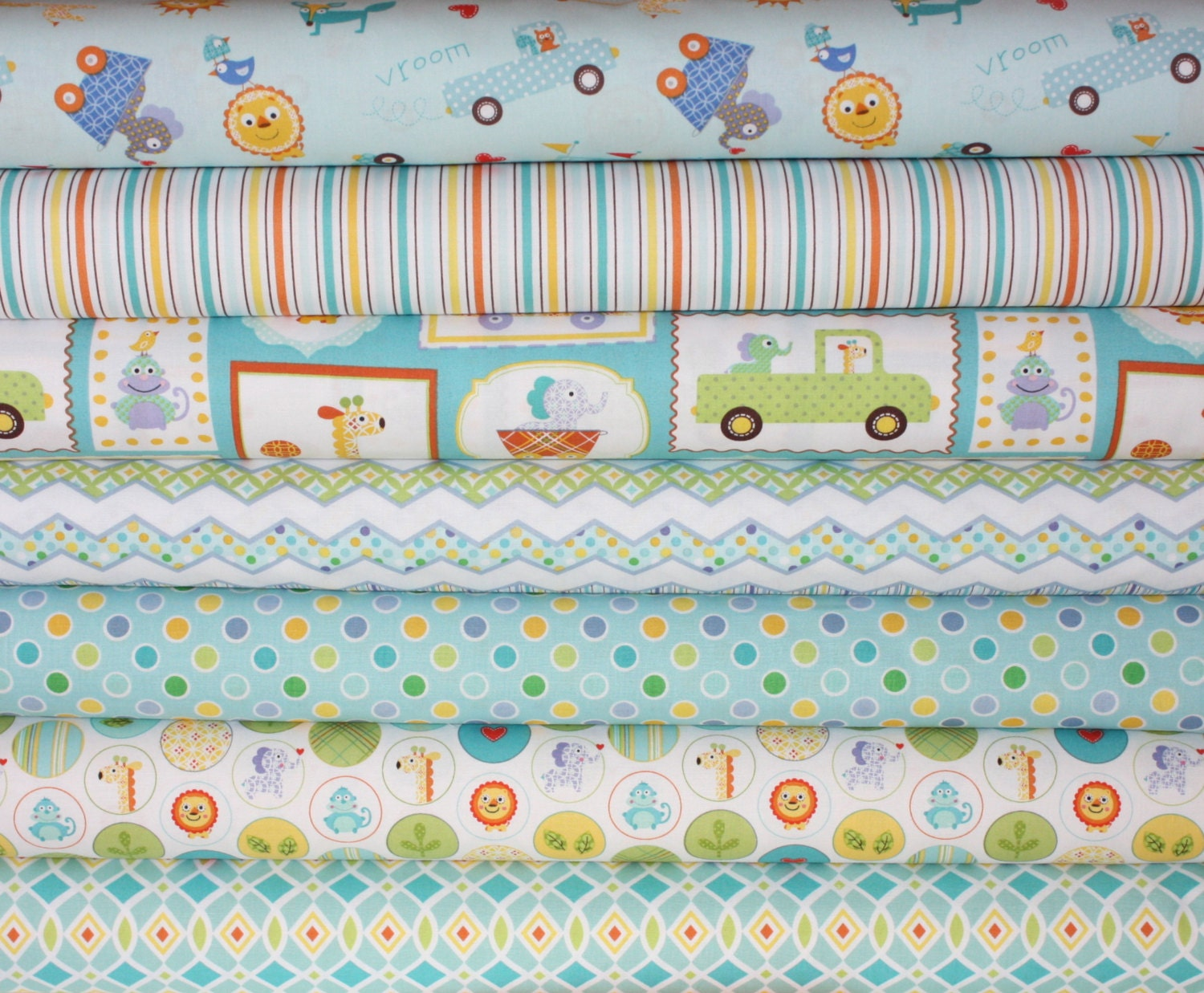 Happi boy quilt or craft fabric bundle by dena designs for for Boy quilt fabric