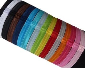 2 Interchangeable Soft Stretch Headband - Mulitiple Sizes Baby Headband to Adult Headband- Choose your Color - Elastic Headband