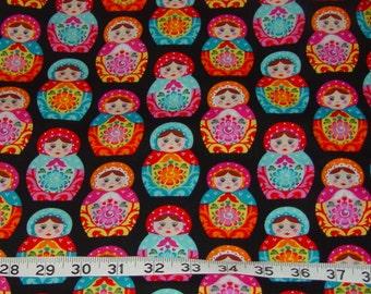 Nesting Matryoshka Russian Dolls Fabric - 2 yards