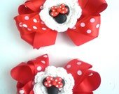 2 Minnie Mouse Bows
