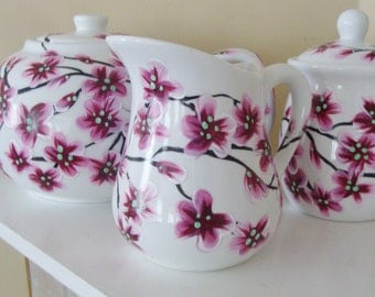 Cherry Blossoms Teapot Set Hand Painted