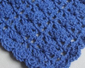 Crochet baby doll Blue Blanket Afghan 19 inch square LB19