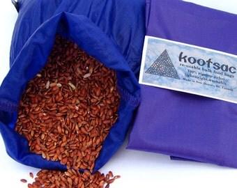 Reusable bulk food bag, bulk bin bag, reusable produce bag, ripstop nylon bag, reusable food sack, lightweight bag, medium size, purple