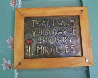 Ordinary Miracles Framed Plaque