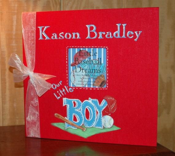 Little Baseball Dreams Baby Memory Book