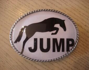 Horse Belt Buckle - JUMP