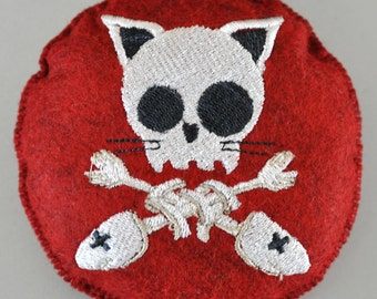 Choice Goth Embroidered Pin Cushion or BJD Doll Pillow