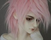 BJD Wig Soft Pink SIZE CHOICE faux fur doll wig