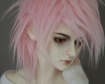 BJD Wig Soft Pink SIZE CHOICE faux fur doll wig