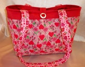 Love is in the air SALE 16% off Sweet heart valentine's floral adorable 10 pockets fun handbag purse tote great for all ages and so roomy