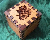 1.5 Dogwood Blossoms Itty Bitty Cedar Cube Ring Box