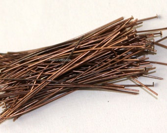 100 antiqued copper headpin 24 Gauge 1.75 inch