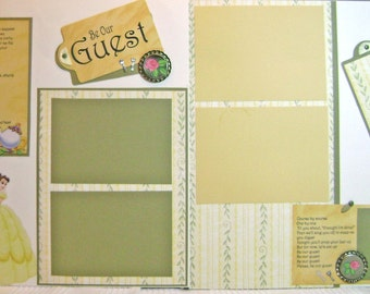 Scrapbook Premade Pages Disney Princess Belle Layout  - Kitsnbitscraps