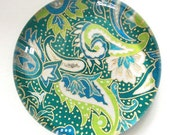 Teal Paisley (Japanese Chiyogami)  Paperweight