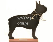 BOSTON TERRIER Chalkboard - Boston University chalkboard, Wofford College chalkboard