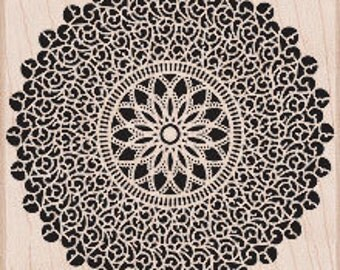 Starburst Lace Stamp • Doily Rubber Stamp (S5317)