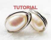 WIRE JEWELRY TUTORIAL- Wire Wrap Stud Earrings, Simple Yet Elegant