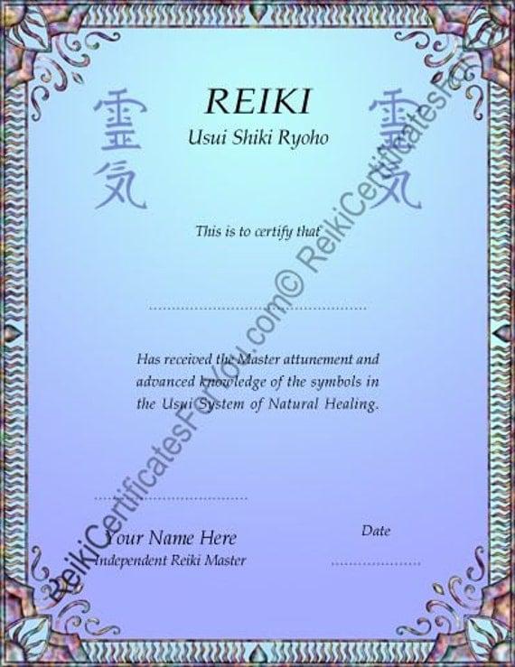 Reiki certificate template dapple design portrait oriented for Reiki certificate template software
