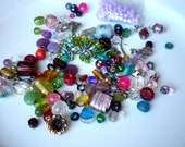 Destash Beads-Glass Beads-Jewelry Findings-Bead Mix-Grab Bag-Overage-Jewelry Making-Learn Jewelry-Mixed Lot-Multi Color-Cheap Bead Lot-Clasp