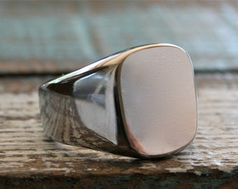 Monogram Ring, Engraved Jewelry, Engraved Ring, Men's Ring, Stainless Jewelry