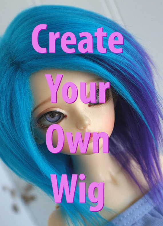 Doll / BJD / Dollfie CREATE Your Own WIG.. 1/2 and 1/2 wig MonstroDesigns  monstrodesigns
