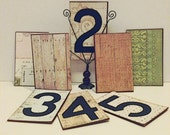 Winter Wedding, Unique Wedding, Save the Date, Table Numbers, Rustic Numbers, Wedding Decor, Party Decor, Vintage Book Wedding
