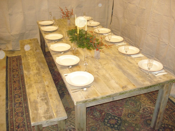 Driftwood dining room table 108l x 44w x 29h by for Dining room tables etsy